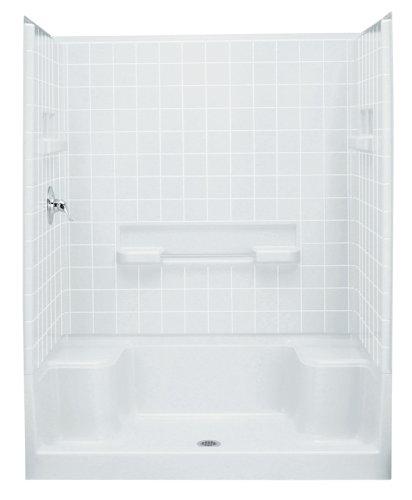 Sterling Vikrell 62044100-0 Shower Wallset, White Swirl Gloss, 60-In.