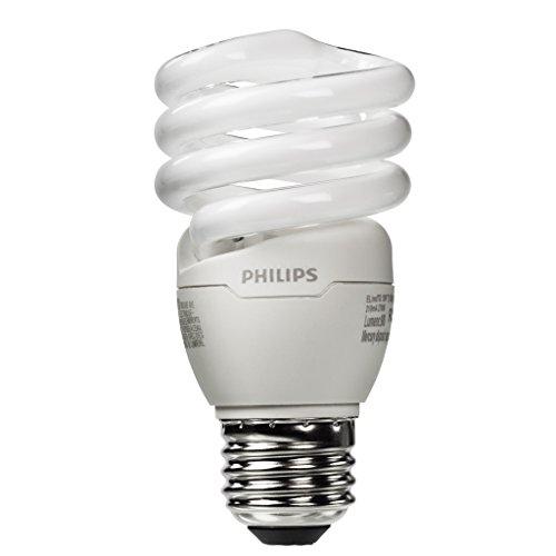 Philips 420091 13W 60-Watt T2 Twister 6500K Cfl Light Bulb, 4-Pack