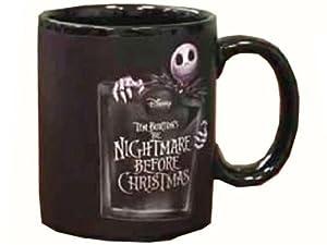 "NECA Nightmare Before Christmas ""Jack Pattern"" Thermal Mug 1"