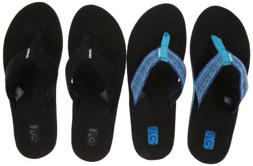 Womens Black Flip Flops front-480694
