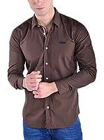 GALVANNI Camisa Hombre Baltringue (Marrón)