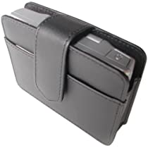 Gilsson GL43 Premium Leather Case for 4.3-Inch GPS with Business Card and SD Pockets (Black)