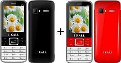 I KALL (K34BLACK+K34RED) Dual Sim Mobile Combo