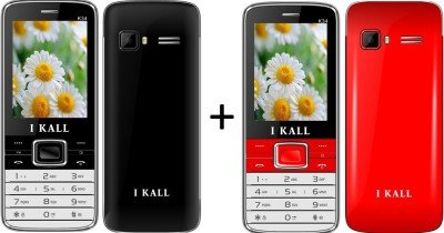 I KALL (K34BLACK+K34RED) Dual Sim Mobile Combo