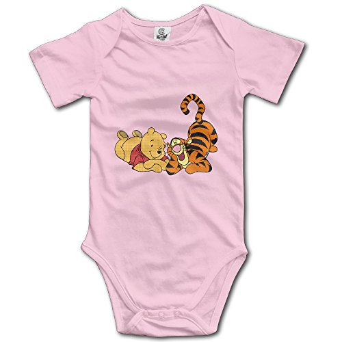 Tigger And Pooh Besties Unisex Short Sleeve Bodysuit Romper Jumpsuit Outfits For Baby