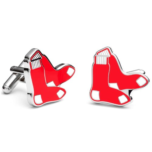 Boston Red Sox Socks Logo Cufflinks by Mens Bodega - Cuff Links