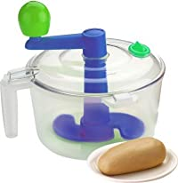 God Gift Vegetable Chopper & Dough Atta Maker 2 In 1 Plastic Spiral Gadget Bucket