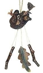 "10"" Kenai Brown Bear Hangin' Out Wind Chime Christmas Ornament"