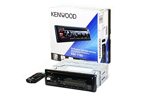 Kenwood Kdc-118U Cd Mp3 Wma Car Stereo Receiver With Usb & Aux-In
