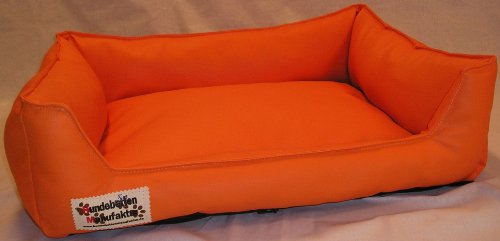 Artikelbild: Hundebett Hundesofa Schlafplatz Kunstleder Acceso 120 cm X 100 cm orange
