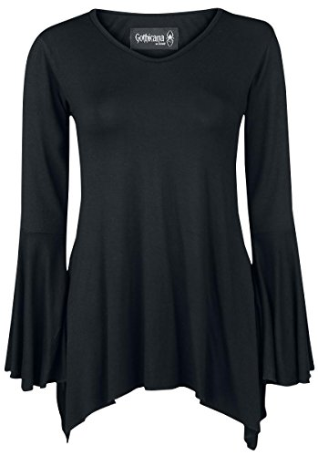 Gothicana by EMP Bat Longsleeve Manica lunga donna nero XL