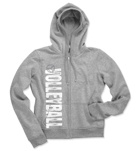 Katz Zip Hoodie Volleyball Youth (Large/Grey) front-1052977