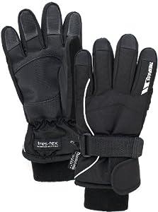 Trespass Kids Ergon Thinsulate Ski Glove - Black, Age 2-4