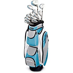 Adams Golf A3OS 13-Piece Ladies Intergrated Set (1, 3, & 5 wood,3-8 Hybrids, 9 Iron, Pw)  - Rain