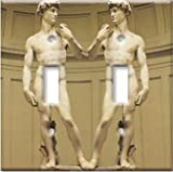 Art Plates Double Toggle Michelangelo's David Switch Plate