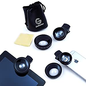 Universal 2 in 1 Professional HD Camera Lens Kit for iPhone 6 Plus, iPad, and other Mobile Devices - 0.45x Super Wide Angle + 10x Super Macro (High Quality Optical Glass/Increased Transparency)