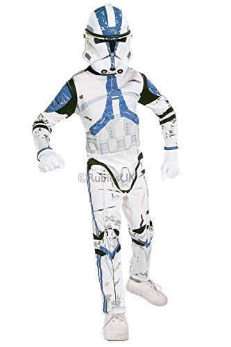 Rubies Official Star Wars 501st Clone Trooper Childrens Fancy Dress Costume