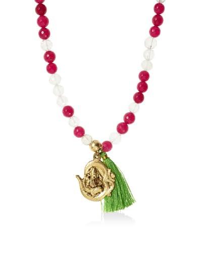 Lead Clear/Fuchsia Om Necklace/Bracelet