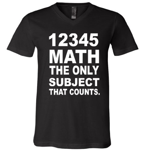 12345 Math The Only Subject That Counts V-Neck T-Shirt