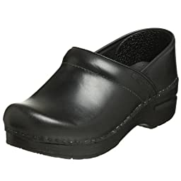 Dansko Women\'s Professional Pro Cabrio Leather Clog,Black,35 EU / 4.5-5 B(M) US