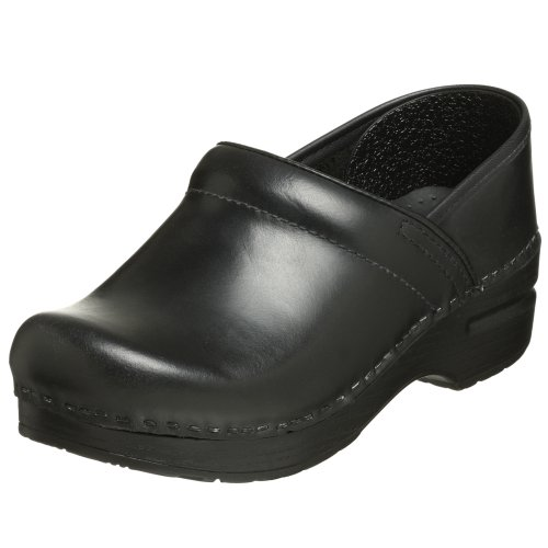 Dansko Women's Professional Pro Cabrio Leather Clog,Black,37 EU / 6.5-7 B(M) US