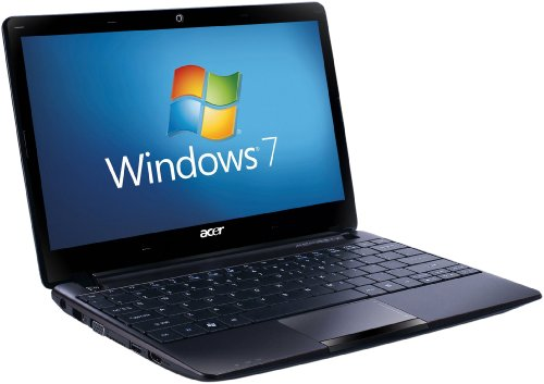 Acer Aspire One 722 11.6 inch Netbook - Black (AMD Dual-Core C-60 1GHz, RAM 2GB, HDD 320GB, LAN, Webcam, Windows 7 Home Premium 64 Bit)