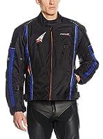 Roleff Racewear Chaqueta de Moto Motorradjacke Como Ro 15051 (Negro / Naranja / Azul)