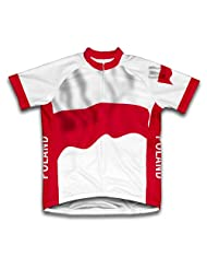 Poland Flag Short Sleeve Cycling Jersey for Women