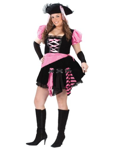 Pirate Pink Punk Plus Adult Costume Adult Womens Costume