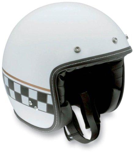 AGV RP60 Cafe Racer Helmet , Size: Md, Primary Color: White, Helmet Category: Street, Distinct Name: Multi White Cafe Racer, Gender: Mens/Unisex, Helmet Type: Open-face Helmets 110152C0002007