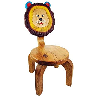 Chair For Child Wooden With Lion