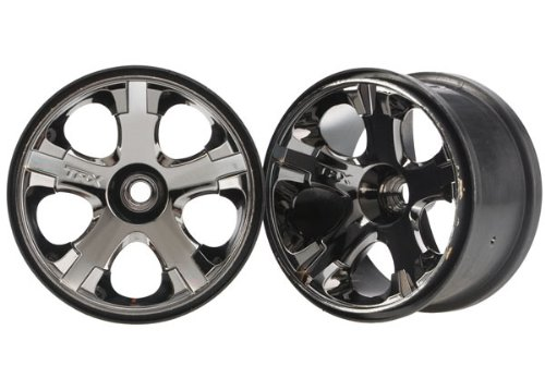Traxxas 5577A Black Chrome All-Star 2.8 Wheels, Nitro Front, 2-Piece