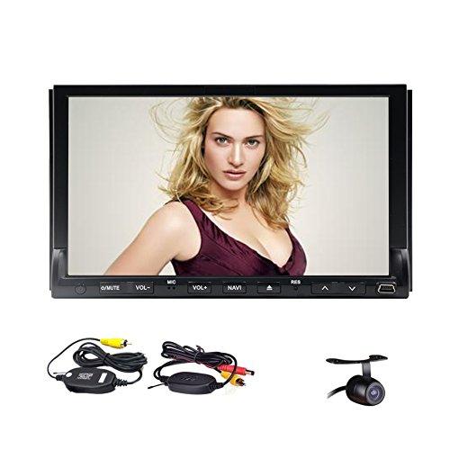 Elettronica Car MP3 MP4 del PC CD Head Unit Auto DVD audio per auto Autoradio in precipitare Video Doppio Din Multimedia Radio touch screen RDS logo Telecomando Sub AMP Wireless Rear View Camera