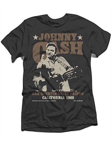 Johnny Cash - Top - Uomo Black Medium
