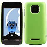 iTALKonline Nokia Asha 311 GREEN Hard Slim Grip Wave Tough Case Soft Skin Cover