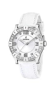 Festina - F16537/1 - Montre Femme - Quartz - Analogique - Bracelet Cuir Blanc de Festina