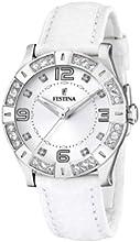 Comprar FESTINA F16537/1 - Reloj de mujer de cuarzo, correa de piel color blanco
