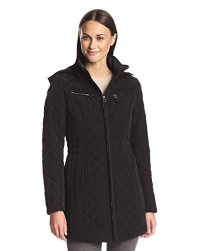 Laundry by Design Women's Quilled Coat with Hood