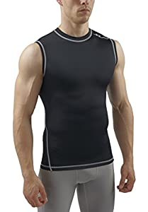 Sub Sports Dual Men's Compression Baselayer Sleeveless Top - Black, Small