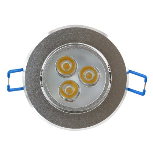 Lemonbest® 3W Dimmable Led Ceiling Lights Downlight Recessed Lighting Fixtures, Ac 110V, Warm White 3000K