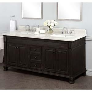 kingsley 72 double sink vanity with alpine. Black Bedroom Furniture Sets. Home Design Ideas