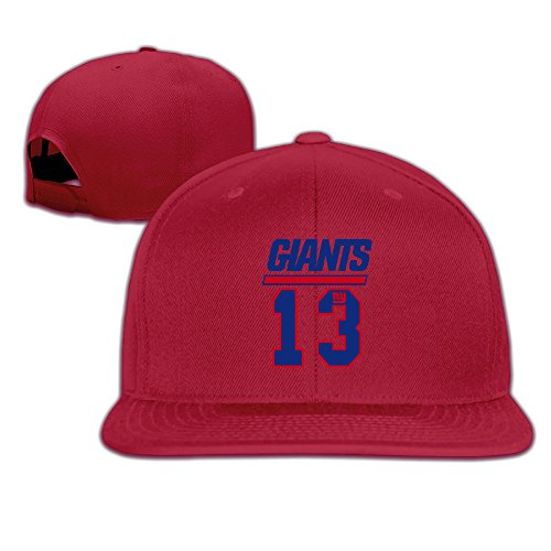 [NORAL Flat Billed Trucker New York Odell #13 Player Cap Hats Red] (Giant Monster Costume For Sale)