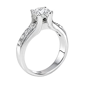 GIA Certified 14k white-gold Round Cut Diamond Engagement Ring (1.28 cttw, D Color, SI1 Clarity)