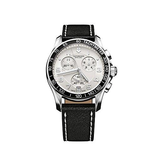 Victorinox Classic 241496 - Reloj analógico de cuarzo para hombre, correa de cuero color negro