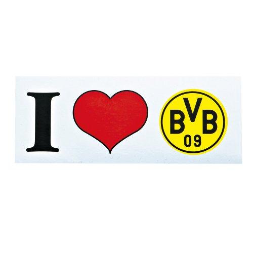 "BVB AUFKLEBER STICKER ""I love BVB"" BORUSSIA DORTMUND BVB"