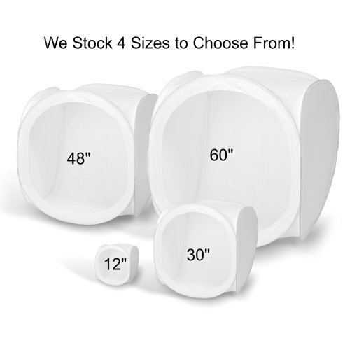 Square Perfect 1045 60-Inch Light Tent Photo Cube Softbox With 4 Colored Backgrounds For Product Photography