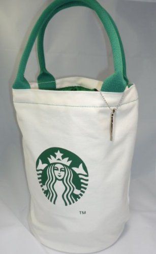 One Key Chain And Starbucks Tea Cup-Shaped Tote Bag (Medium Size )