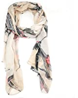 Graceful Long Plain Ladies Scarf Chiffon - 5 Colours to Choose From (Beige)