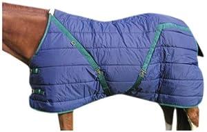 High Spirit Snuggie Stable Blanket, 80-Inch, Blue/Hunter Green