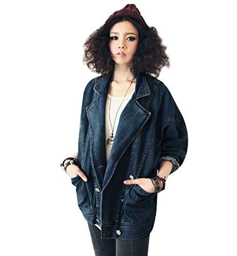 Gaorui Giacca Da Donna Di Jeans Cardigan Casual Trench Cappotto Manica Lunga Outerwear Primavera Autunno